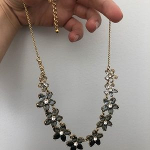 Kate Spade Black Ombre Floral Statement Necklace